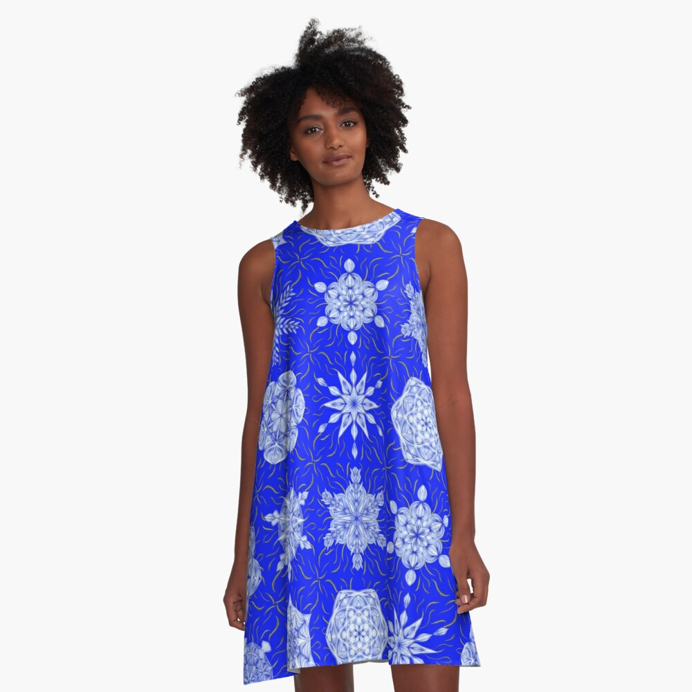 Frosted Sky A-Line Dress