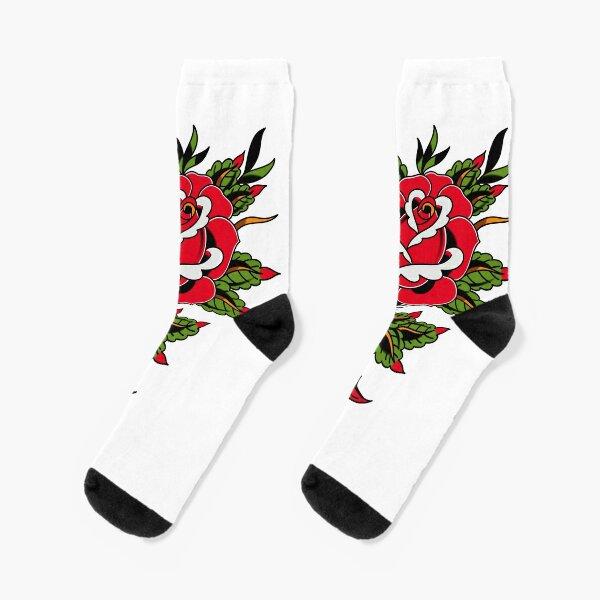 Classic Rose Tattoo Socks