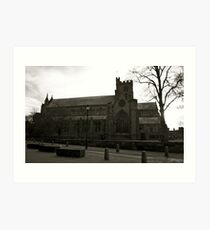 Carlisle Cathedral (Black&White) Art Print
