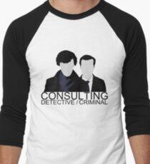Consulting Detective/Criminal Men's Baseball ¾ T-Shirt