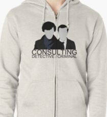 Consulting Detective/Criminal Zipped Hoodie