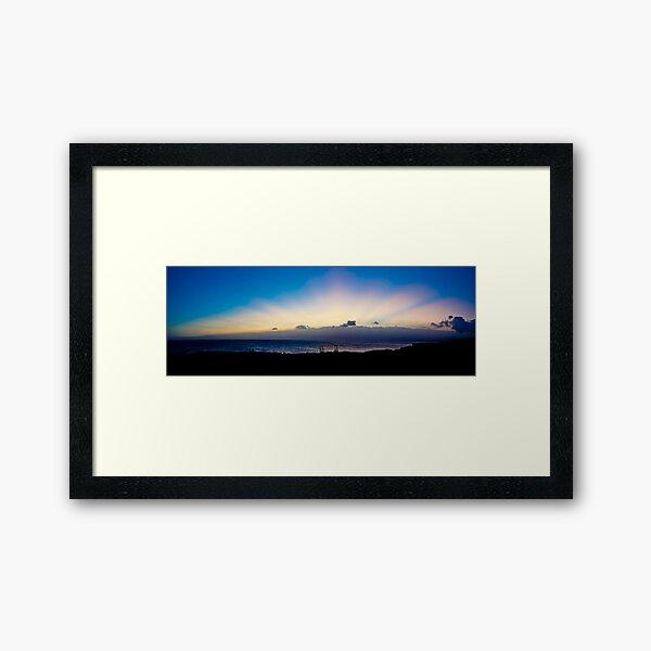 Sun Rays, South Point - Hawaii Framed Art Print