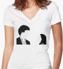 Sherlock And Irene Women's Fitted V-Neck T-Shirt