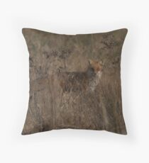 Redfox in Chester county Throw Pillow
