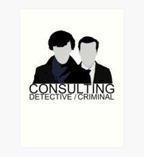 Consulting Detective/Criminal Art Print