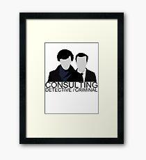 Consulting Detective/Criminal Framed Print