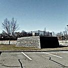 Mary Ellis grave in the Loews Theatre parking lot, New Brunswick NJ by Jane Neill-Hancock