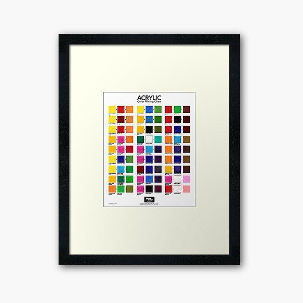Acrylic Color Mixing Chart Framed Art Print