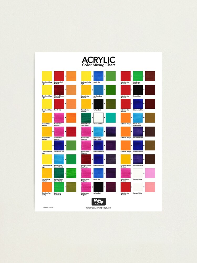 Alternate view of Acrylic Color Mixing Chart Photographic Print