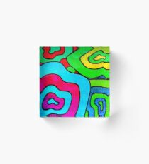 BINGE - Psychedelic artwork Acrylic Block