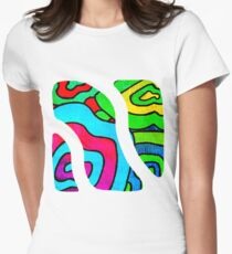 BINGE - Psychedelic artwork Women's Fitted T-Shirt
