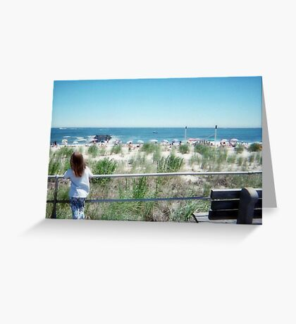 The Little Dreamer At The Jersey Shore Greeting Card