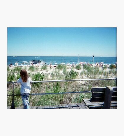 The Little Dreamer At The Jersey Shore Photographic Print