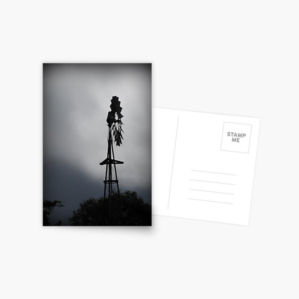 Windmill Silhouette Postcard