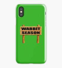 Wabbit season iPhone Case/Skin