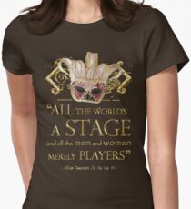 Shakespeare As You Like It Stage Quote Women's Fitted T-Shirt