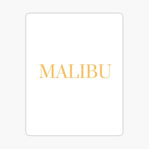 Yellow Malibu Graphic Sticker