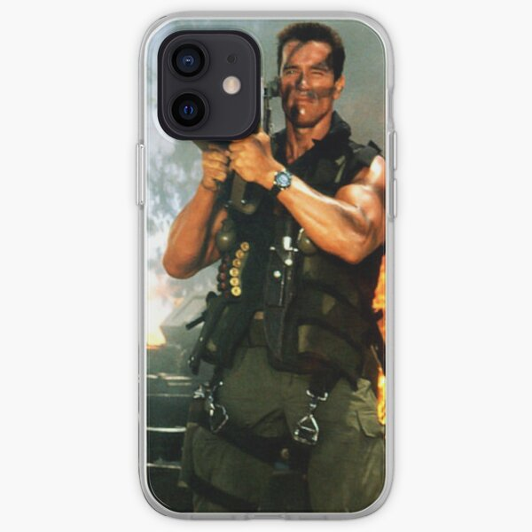 Arnold military Schwarzenegger army actor design  iPhone Soft Case