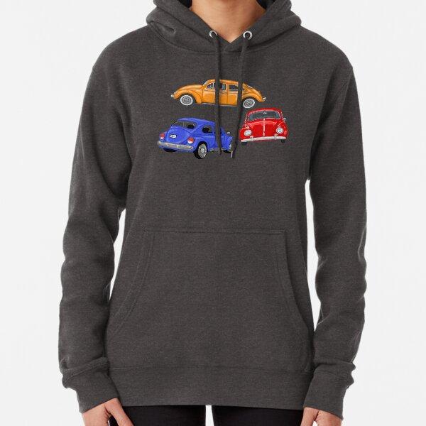 Classic Volkswagen Beetle Print Pullover Hoodie