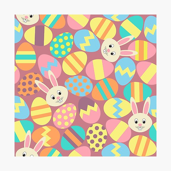 Easter Eggs & Bunnies Photographic Print