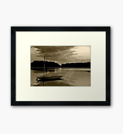 All is Quiet Framed Print
