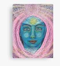 Light Portrait-Blue Girl 1 Canvas Print