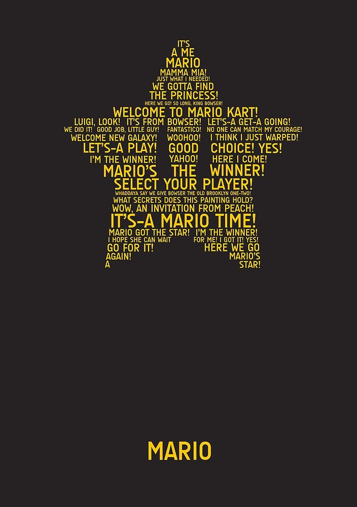 Mario Typography by TitanVex