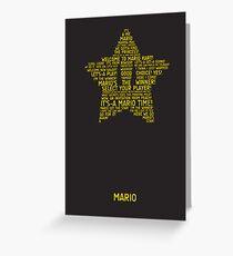 Mario Typography Greeting Card