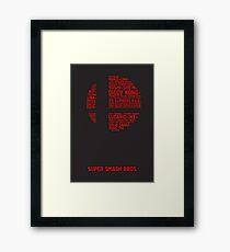 Super Smash Bros. Typography Framed Print