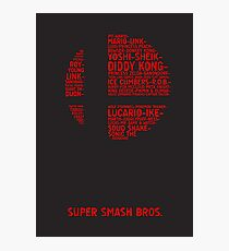 Super Smash Bros. Typography Photographic Print