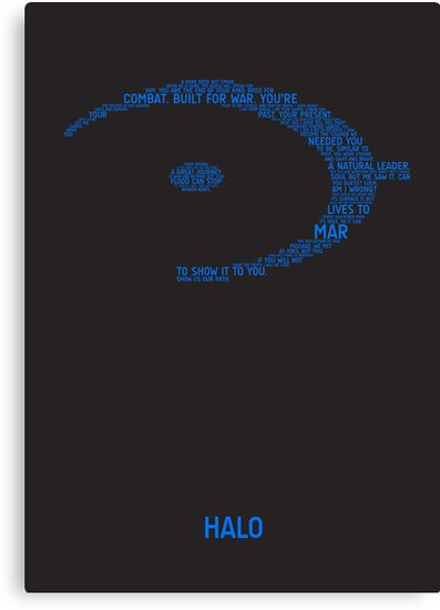 Halo Typography [Blue] by TitanVex