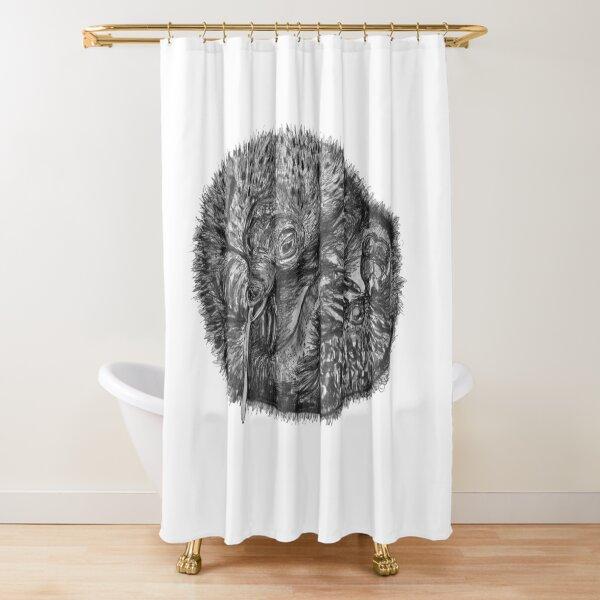 Elizabeth the Baby Echidna Shower Curtain