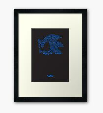 Sonic Typography Framed Print