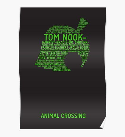 Animal Crossing Typography Poster