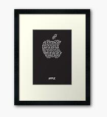 Apple Typography Framed Print