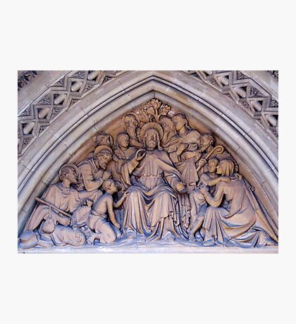 Truro Cathedral Exterior- Biblical Scene Fotodruck