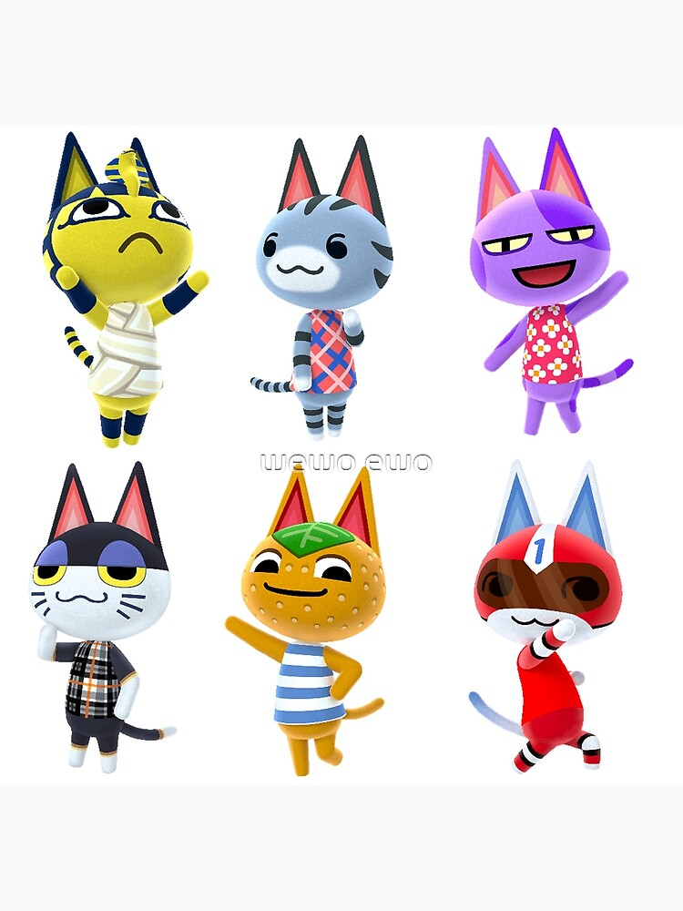 cute animal crossing villagers cat