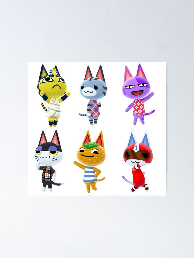 Animal Crossing Cat Villagers Sticker Animal Crossing New