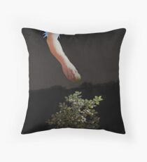 Temptation Forbidden Fruit Throw Pillow