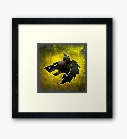 Wolf Icon Framed Print