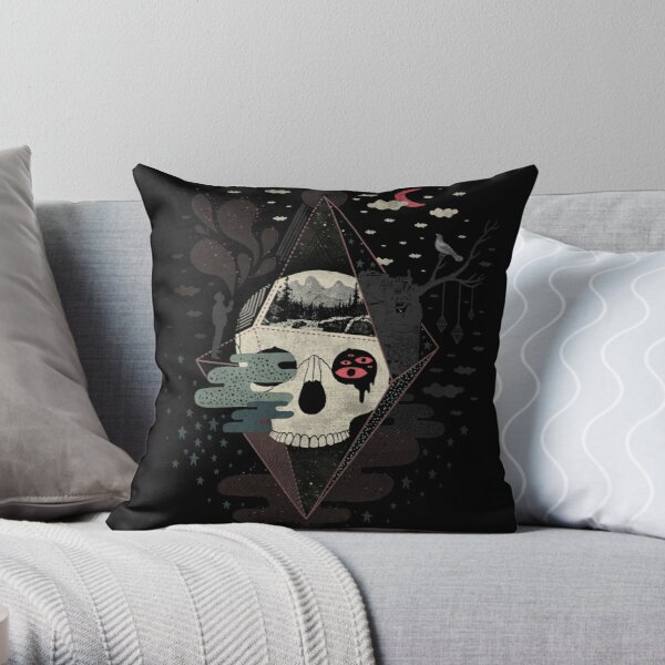 Happy Riddle Throw Pillow