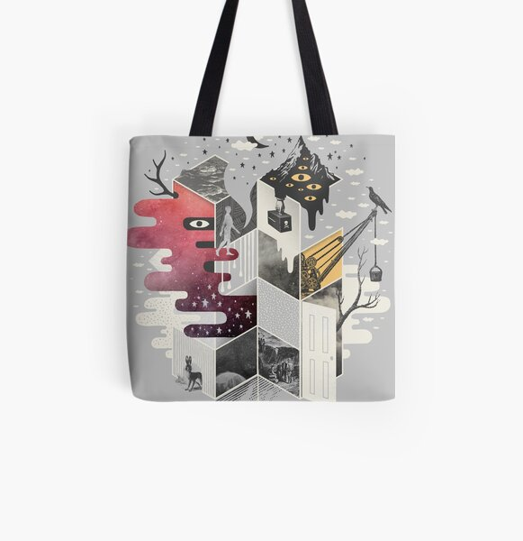 Jung at Heart All Over Print Tote Bag