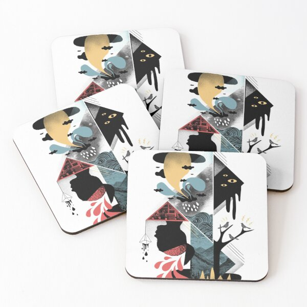Shapes and Nightmares Coasters (Set of 4)