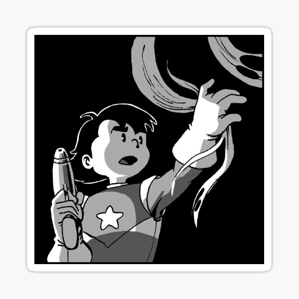 Space Kid dramatic lighting Sticker