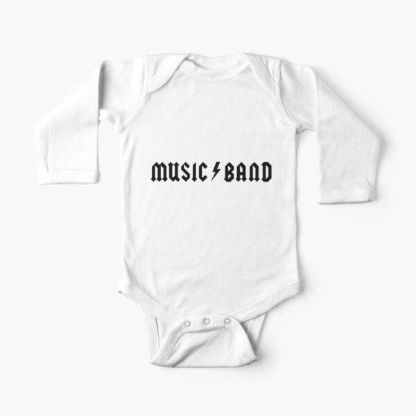 Music Band Long Sleeve Baby One-Piece