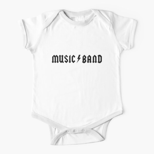 Music Band Short Sleeve Baby One-Piece