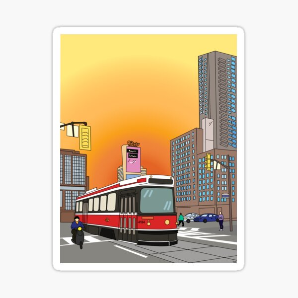 Streetcar Toronto Sticker