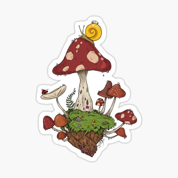 Mushroom Land Sticker