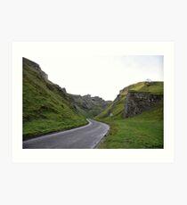 Winnats Pass, Castleton, Derbyshire, England Art Print