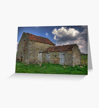 Old Barn - Lastingham Greeting Card